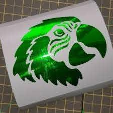 Parrot Decal In Green Chrome Vinyl Mermaid Decal Skull Decal Custom Decals