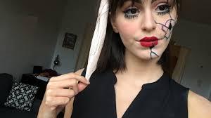 halloween makeup look 1 broken doll