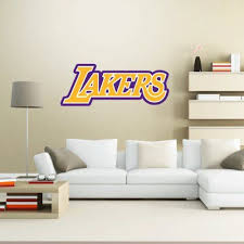 Los Angeles La Lakers Logo Wall Decal Wall Decor 25 X 10 Frog Wall Decals Wall Decals Wall Decor