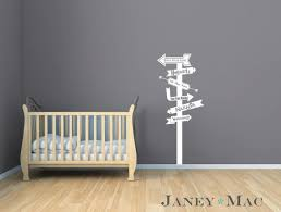 Fairy Tale Sign Post Modern Arrows Wall Decal Gender Neutral Nursery Bedroom Ideas Harry Potter Disney Shre Wall Decals Vinyl Wall Decals Vinyl Wall Stickers