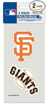 Amazon Com San Francisco Giants Set Of 2 Die Cut Decals Sports Outdoors