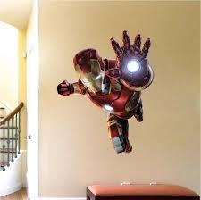 Ironman Wall Decal Superhero Wall Design Avengers Wall Stickers Tony Stark Wall Design I Kids Bedroom Wall Decals Wall Decals For Bedroom Avengers Room