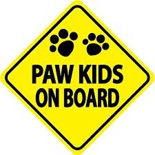 Paw Kids On Board Car Window Decal Baxterboo