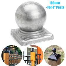 100mm Silver Metal Round Epoxy Fence Finial Post Caps Ball For 4 Posts Buy At A Low Prices On Joom E Commerce Platform