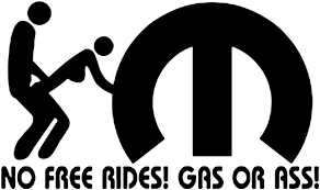 4pcs Set Mopar No Free Rides Gas Or Ass Window Vinyl Decal Sticker Geek