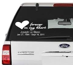 Amazon Com Forever In My Heart Decal Customize Name And Date Choose The Color And Size Perfect For Car Window Etc Handmade