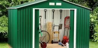 concrete garageetal wooden sheds