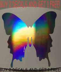 Holographic Butterfly Vinyl Car Window Decal Sticker 1007 For Sale Online