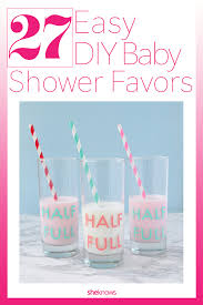 adorable homemade baby shower favors