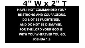 Joshua 1 9 Car Truck Window Sticker Decal Christian Bible Verse Jesus 2 95 Picclick