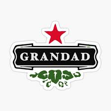 Beer Grandad Gift Idea Sticker By Cutesy Redbubble