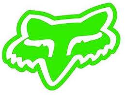 Amazon Com Fox Racing Fox Logo Solid Face Vinyl Decal Sticker 3 Lime Green Kitchen Dining