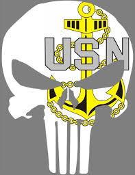 Navy Chief Anchor Punisher Decal Sticker 123