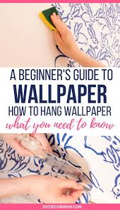 how to hang wallpaper diy decor mom