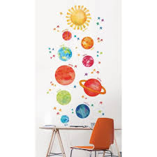 Wall Pops Multi Color Our Galaxy Wall Decal Wpk2582 The Home Depot