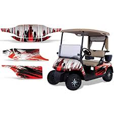 Amazon Com Amr Racing Golf Cart Graphics Kit Sticker Decal Compatible With E Z Go Txt 1994 2013 Carbon X Red Automotive
