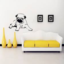 2018 Special Offer Sale Cute Pug Dog Wall Stickers Home Decor Vinyl Decal Mural Lounge Bedroom Kitchen Art Decoration X303 Wall Stickers Aliexpress