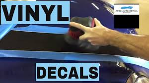 How To Restore Vinyl Decals Stripes And Graphics Liven Them Up Or Restore Completely Youtube