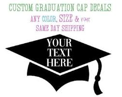 Graduation Cap Decal Etsy