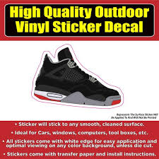 Jordan Basketball Shoe Vinyl Car Window Laptop Bumper Sticker Decal Colorado Sticker