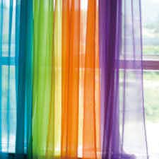 Voile Sheer Curtain Panel Kids Room Curtains Colorful Curtains Rainbow Room