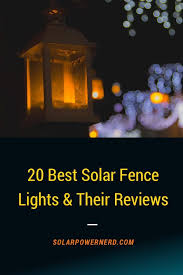 Here S A List Of The Top 20 Best Solar Power Outdoor Fence Lights For Your Garden Lighting Inspira Solar Fence Lights Diy Outdoor Lighting Outdoor Solar Lights
