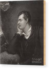 Portrait Of Byron Wood Print by Unknown