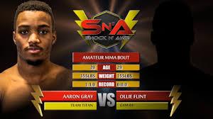 Shock N Awe 26 - Ollie Flint vs Aaron Gray - Amateur MMA - YouTube