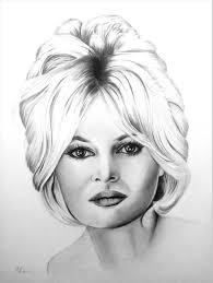 Brigitte Bardot Drawing by Adriana Holmes | Saatchi Art