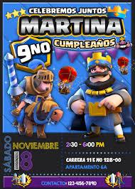 Invitacion Digital Para Cumpleanos De Clash Royale 120 00 En
