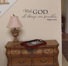 Amazon Com With God All Things Are Possible Religious Wall Decal Sticker Home Kitchen