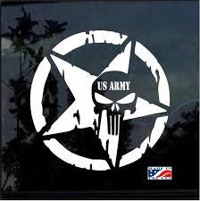 Us Army Punisher Skull Star Military Window Decal Stickers Custom Sticker Shop
