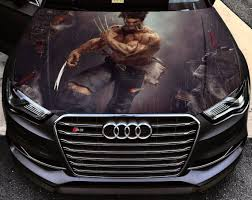 Vinyl Car Hood Wrap Full Color Graphics Decal X Men Wolverine Etsy