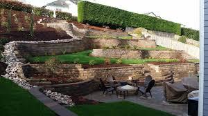 hillside beautiful with retaining walls