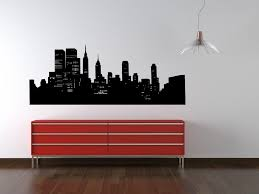 New York Skyline Gonna Paint This In O S Room Wall Decals Cityscape Mural New York Theme
