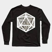 D20 Decal Badge Chaotic S Heart D20 Decal Long Sleeve T Shirt Teepublic