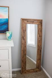 diy full length mirror full length