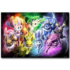 Eevee Pokemon XY Art Silk Fabric Poster Print 13x20 24x36inch Pocket  Monster Anime Picture for Room Wall Decor 028|fabric picture board|fabric  laundrypicture of a lamp - AliExpress