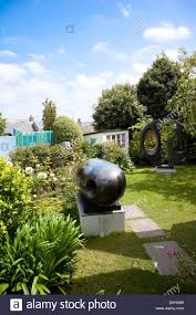 A view of the garden at the Barbara Hepworth Museum in St Ives ...