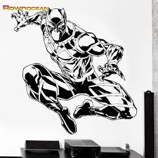 Rownocean The Avengers Black Panther Wall Stickers Home Decor Living Room Vinyl Art Decals Sticker Black Panther Art Black Panther Drawing Black Panther Marvel