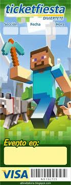 Ticketmaster Minecraft Con Imagenes Invitaciones De Minecraft
