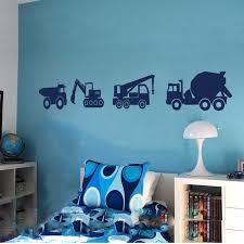 Truck Wall Decal Dump Truck Vinyl Decal Baby Boy Nursery Cement Truck Digger Crane Car Machine Children S Wall Art A14 003 Wall Stickers Aliexpress