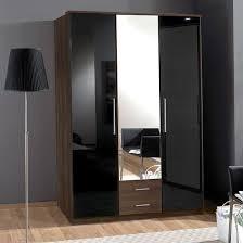 gastineau 2 drawers mirrored wardrobe