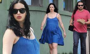 Krysten Ritter is glowing as showcases her pregnancy bump in cobalt dress  alongside Adam Granduciel   Daily Mail Online