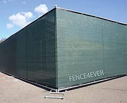 Amazon Com Fence4ever 4 X50 4ft Tall 3rd Gen Olive Green Privacy Screen Windscreen Fabric Mesh Tarp W Aluminum Grommets For Home Garden Yard Garden Outdoor