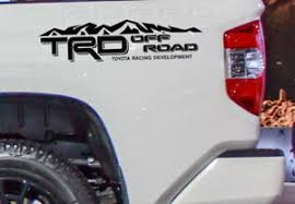 Trd Off Road Vinyl Decal Fits Toyota Tacoma Tundra Truck Bedside Set Of 2 Mtii Ebay