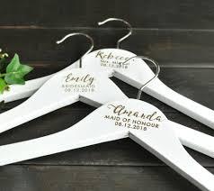 Wooden Wedding Coat Hanger With Personalized Engraving Details Alskar