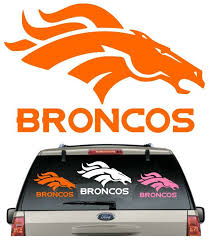 Buy 2 Get 1 Free Broncos Car Decal Various Size Color Window Sticker Flag Denverbroncos Nfl Flag Football Decal Broncos