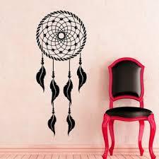 Shop Dream Catcher Indian Amulet Art Design Feathers Vinyl Sticker Decal Mural Wall Decor Sticker Decal 44 X 70 Color Black Overstock 15383356