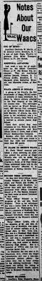 6888th PDB - Notes about our WAACs - Fannie Ada Griffin - Newspapers.com